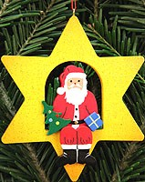 tree ornament Santa Claus in star