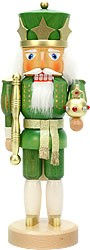 nutcracker king green/gold varnished