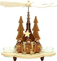 tealight pyramid, carolers