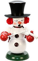 incense smoker, snowman with violin
