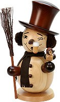 incense smoker, snowman natural