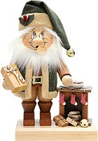 incense smoker, imp Santa Claus by the fireplace