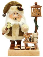 incense smoker, imp Santa Claus with bench