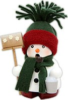 incense smoker, snowman green