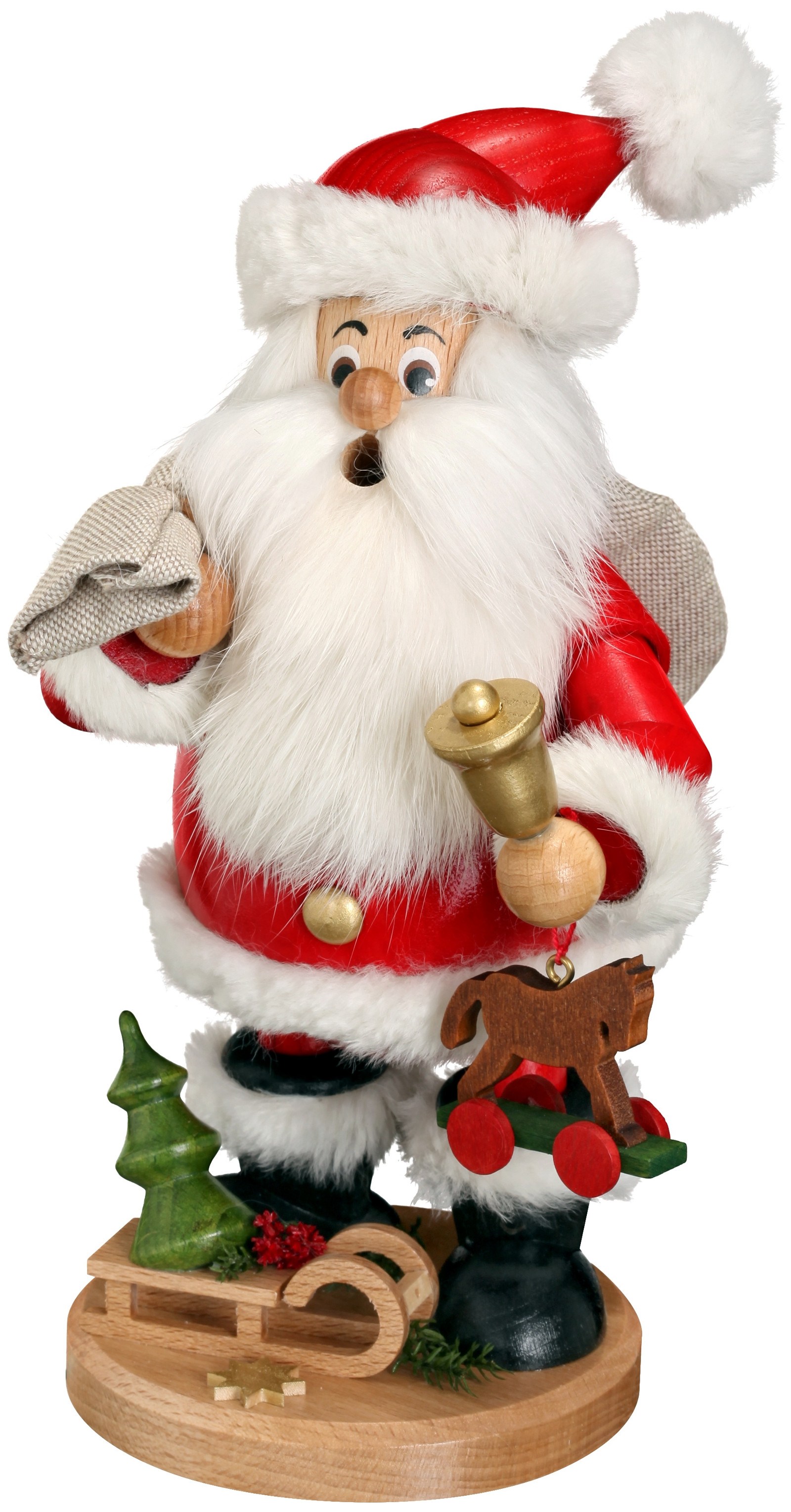 incense smoker santa with gifts