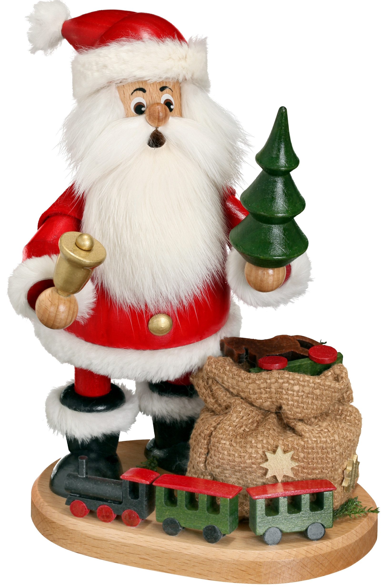 incense smoker santa with railroad