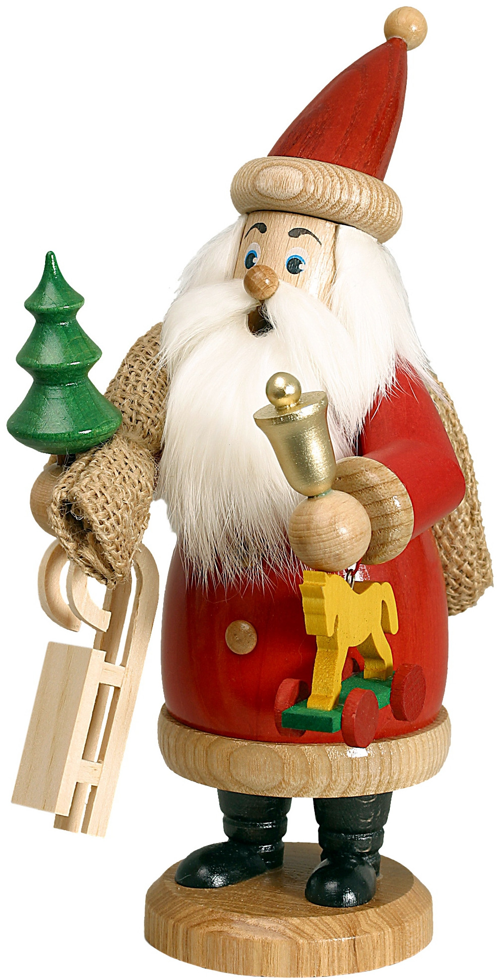 incense smoker santa red