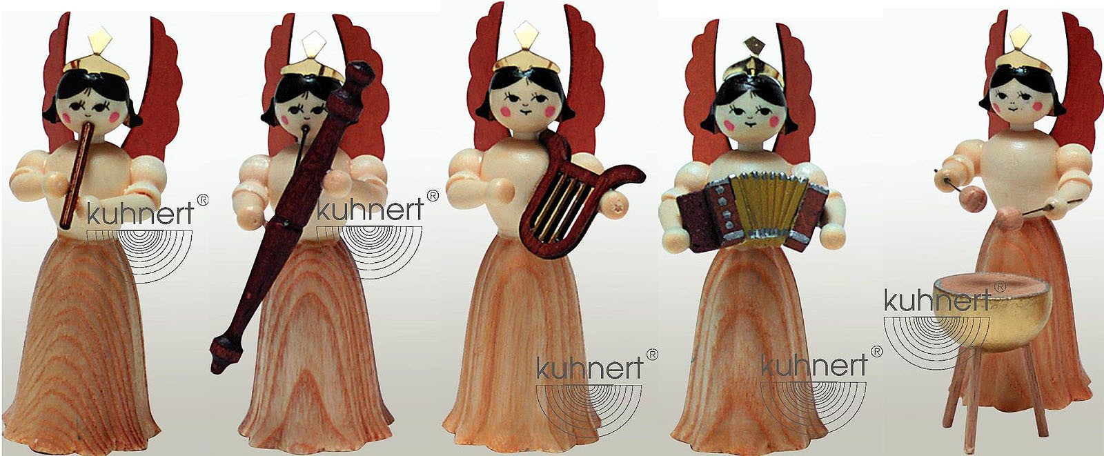 Drechslerei Kuhnert Konzertengel Sortiment 4, natur