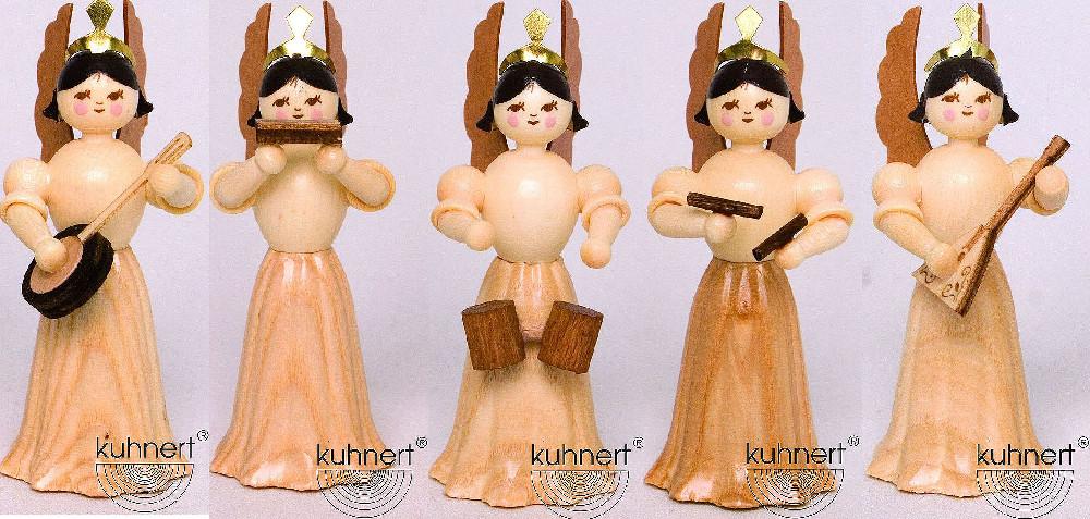 Drechslerei Kuhnert Konzertengel Sortiment 7, natur