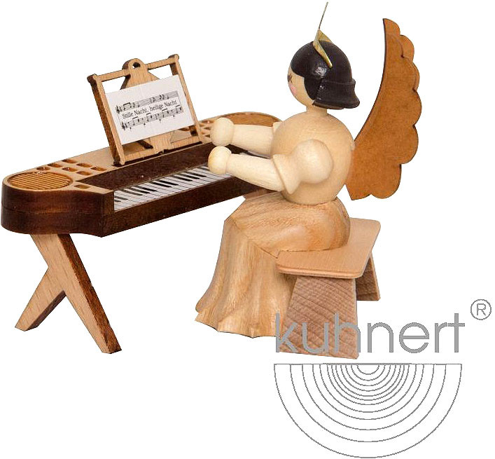angel with electric piano, natural