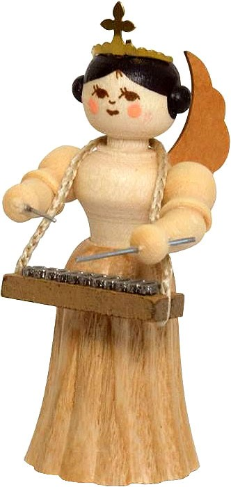 angel with xylophone, natural, small