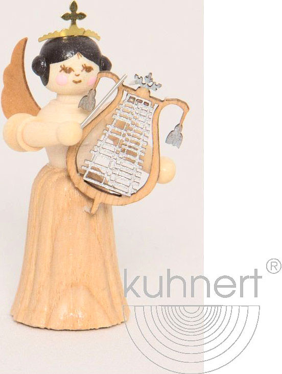 angel with big lyre, natural, small