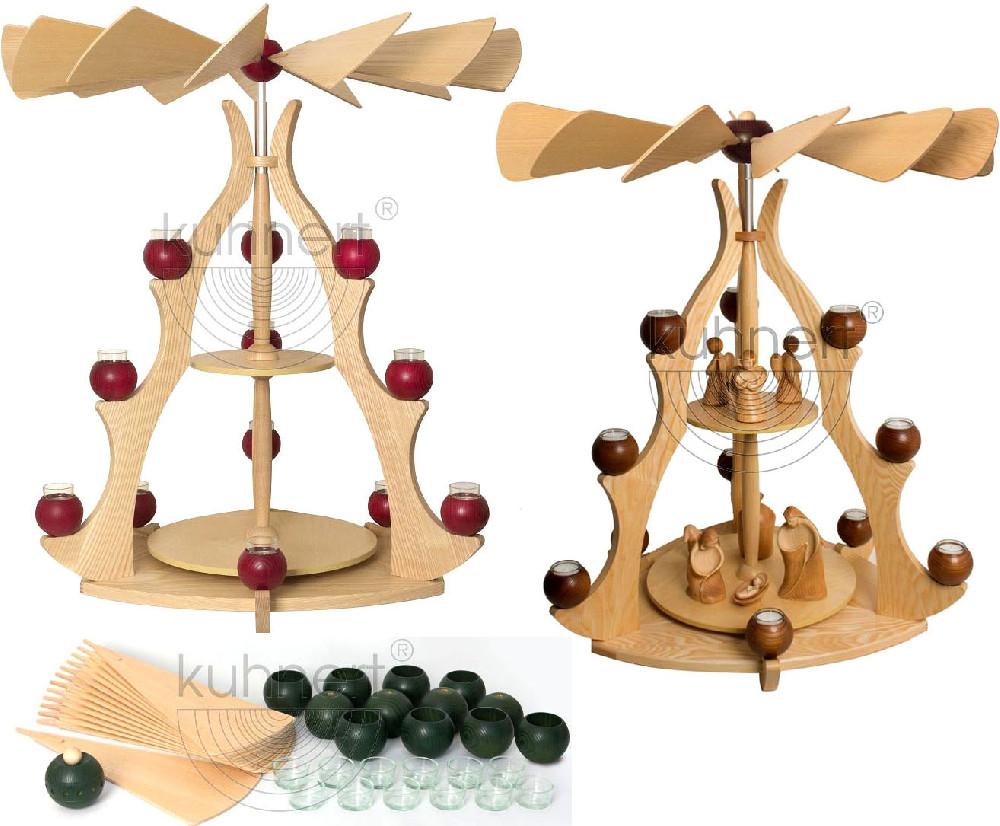 Drechslerei Kuhnert Massivholzpyramide - Leerpyramide