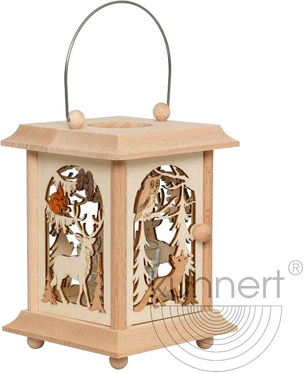 table lantern - forest animals