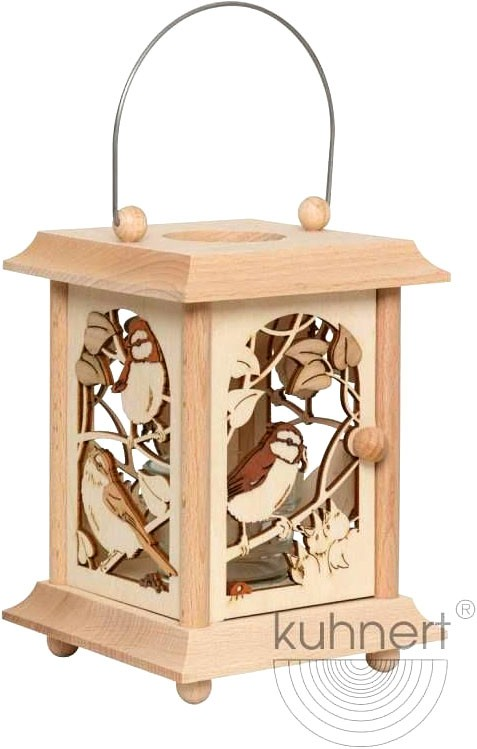 table lantern - birds