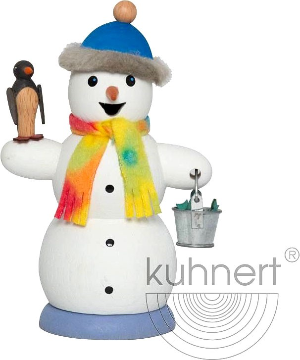 incense smoker, snowman with penguin