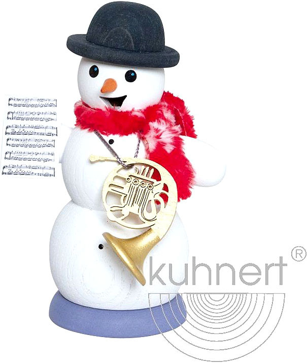 incense smoker, snowman with french horn