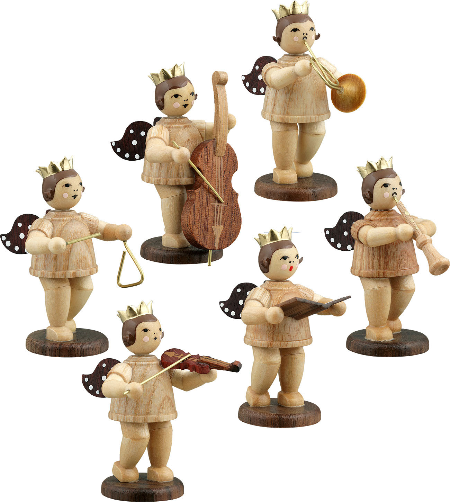Ellmann Engelmusikanten 6-teilig, Variante 2 - natur