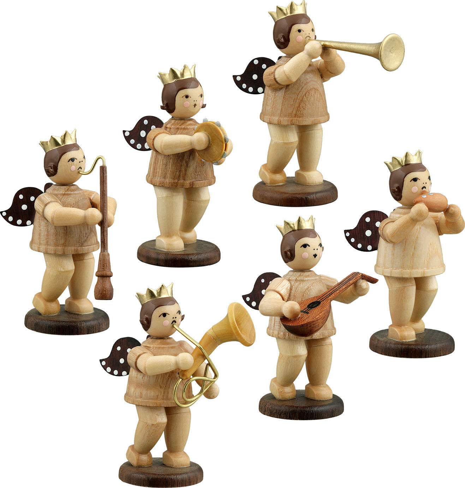 Ellmann Engelmusikanten 6-teilig, Variante 5 - natur