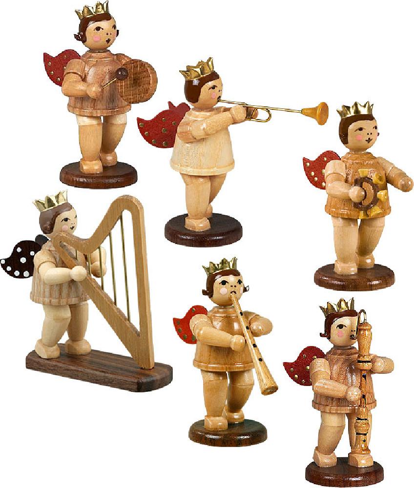 Ellmann Engelmusikanten 6-teilig, Variante 8 - natur