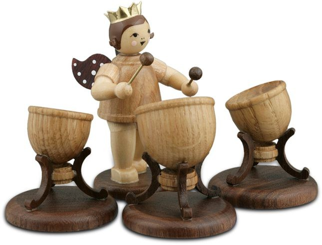 Angel with 3Timpani Natural with-crown