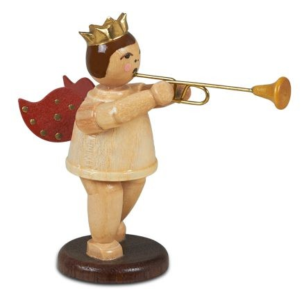 angel with Aida trumpet - with crown, natural