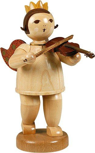 big angel with violin -8.66 inches- with-crown