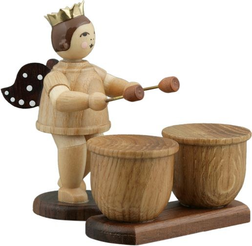 Angel with Kettledrum Natural with-crown