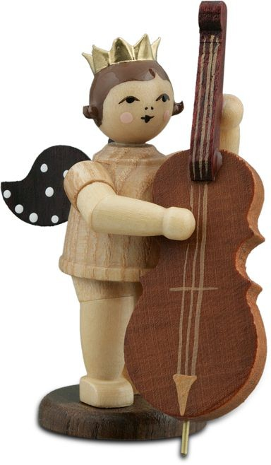 Angel with Contrabass Natural with-crown