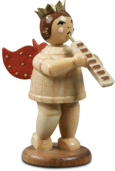 angel with melodica - with crown, natural