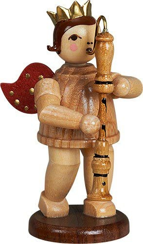 angel with bass recorder natural with-crown