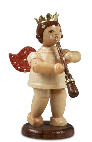 Angel with oboe, natural with-crown