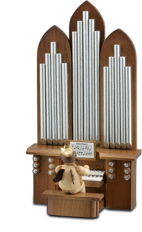 Angel with Organ with Game Mechanism Natural with-crown