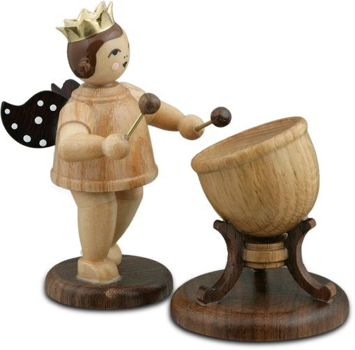 Angel with Timpani Natural with-crown