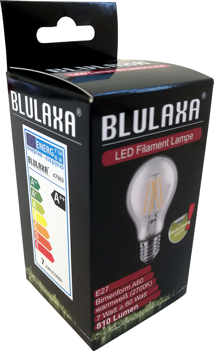 LED-Lampe 7 Watt, Blulaxa, E27