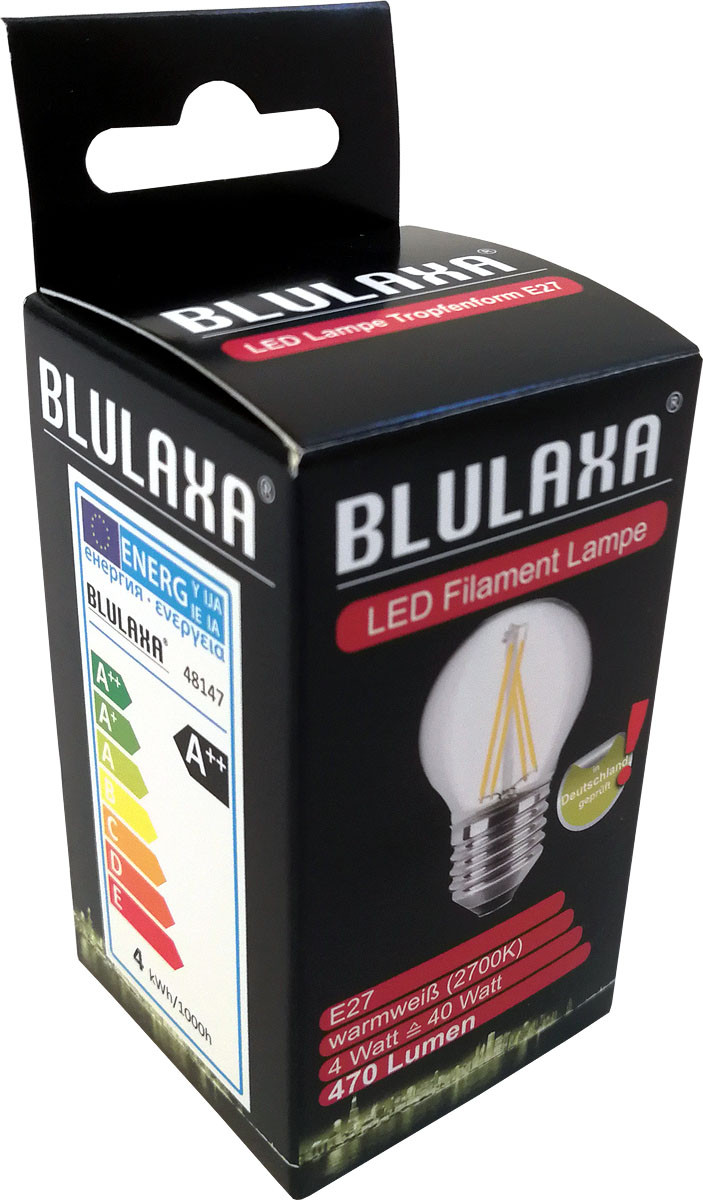 LED-Lampe 4 Watt, Blulaxa, E27