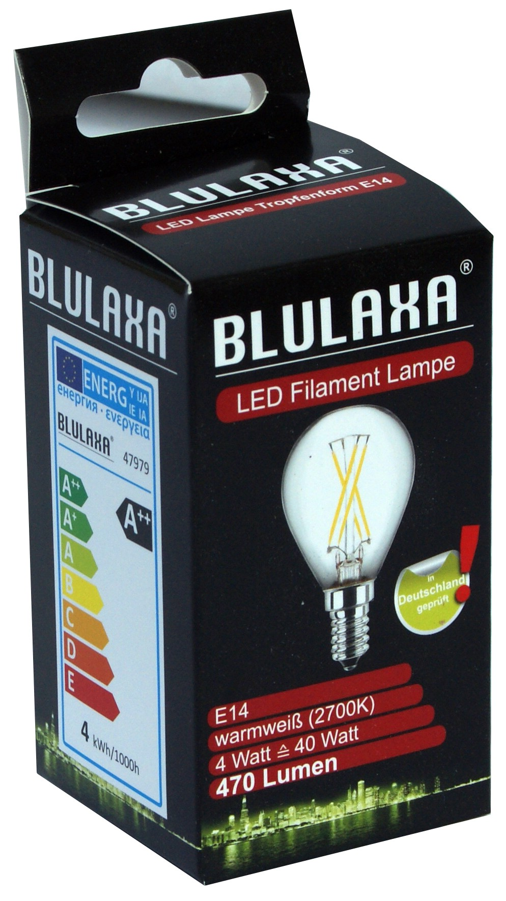 LED-Lampe 4 Watt, Blulaxa, E14