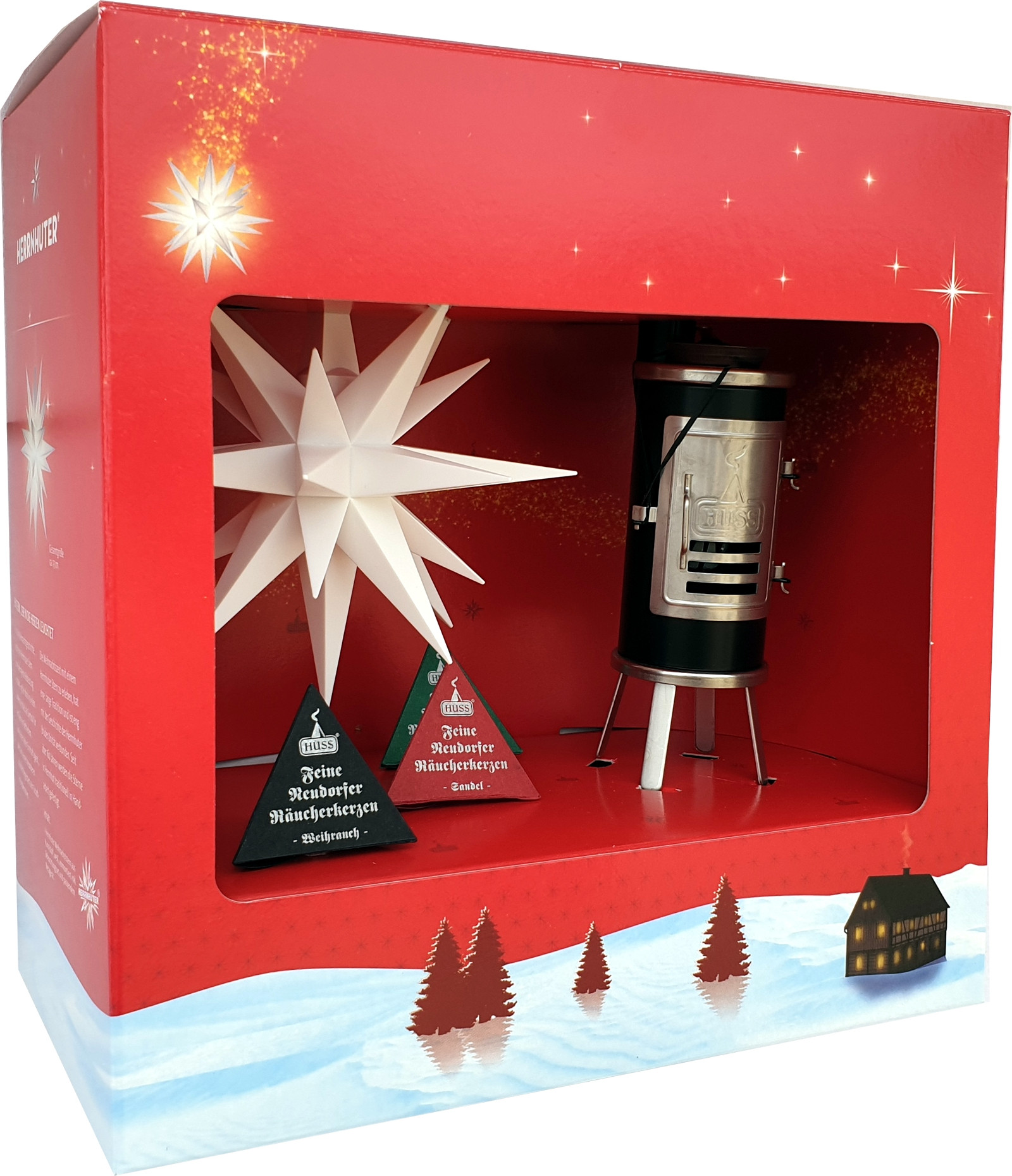 gift wrapping Huss smoker and star A1e white