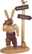 Hiker Rabbit at Signpost