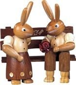 Pair of Rabbits on the bench