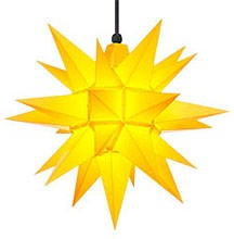 Herrnhuter star A4 for outside, yellow