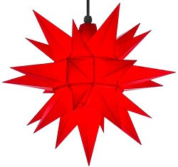 Herrnhuter star A4 for outside, red