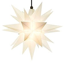 Herrnhuter star A4 for outside, opal