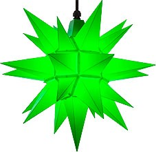 Herrnhuter star A4 for outside, green