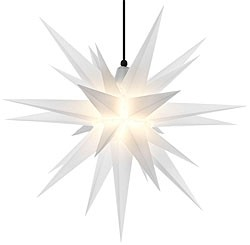 Herrnhut star, for outside, opal