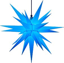 Herrnhut star, for outside, blue