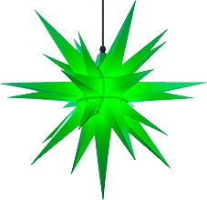 Herrnhut star, for outside, green