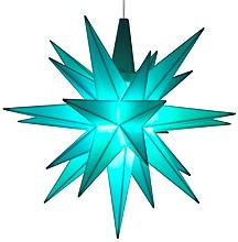 small Herrnhuter star, turquoise, LED - special edition 2017