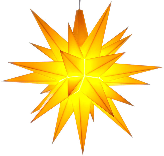 small Herrnhuter star, yellow, LED