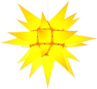 Herrnhut star, yellow